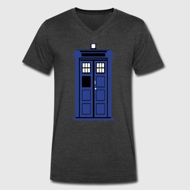 tardis - Men's V-Neck T-Shirt by Canvas