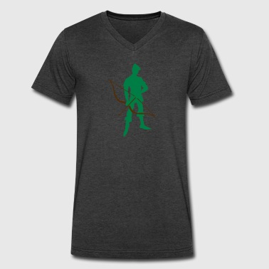 Archer Recurve Bow by patjila2 - Men's V-Neck T-Shirt by Canvas