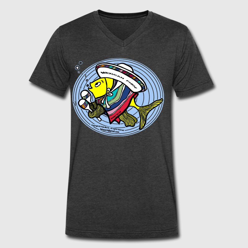 Mexican Fish, Sparky the fish, By FabSpark - Men's V-Neck T-Shirt by Canvas