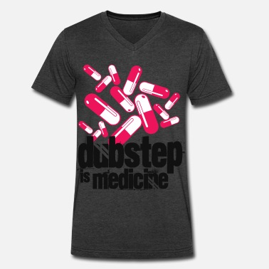 Noisia Dubstep is Medicine - Men's V-Neck T-Shirt by Canvas