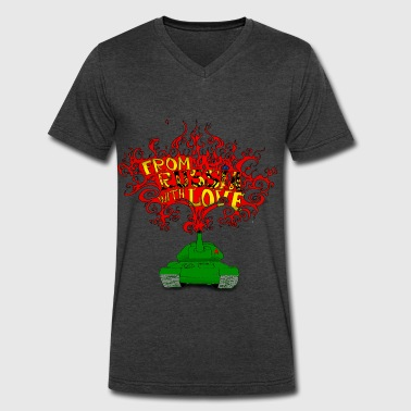 From Russia with Love - Men's V-Neck T-Shirt by Canvas
