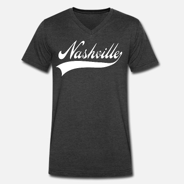 Nashville nashville - Men's V-Neck T-Shirt by Canvas