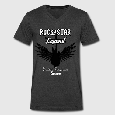 Uk Rock Band Rock Star Legend Uk - Men's V-Neck T-Shirt by Canvas