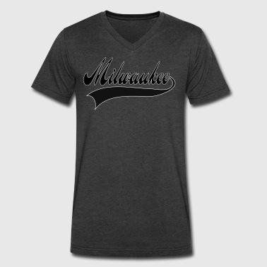 Milwaukee Basketball milwaukee - Men's V-Neck T-Shirt by Canvas
