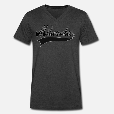 Vintage Milwaukee milwaukee - Men's V-Neck T-Shirt by Canvas