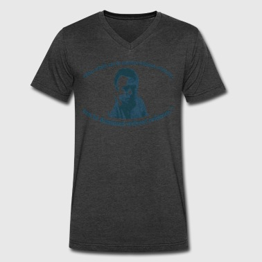 Christopher Hitchens - Men's V-Neck T-Shirt by Canvas