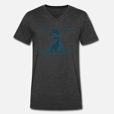 Best Christopher Hitchens Christopher Hitchens - Men's V-Neck T-Shirt by Canvas