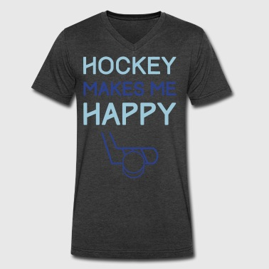 Ultras Hockey Hockey Makes Me Happy - Men's V-Neck T-Shirt by Canvas