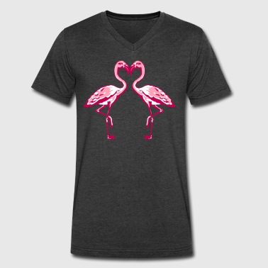 Two Flamingos two flamingos - Men's V-Neck T-Shirt by Canvas
