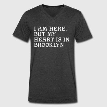 Heart in Brooklyn Clothing Apparel New NYC Tees - Men's V-Neck T-Shirt by Canvas