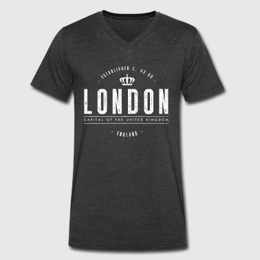 London - Men's V-Neck T-Shirt by Canvas