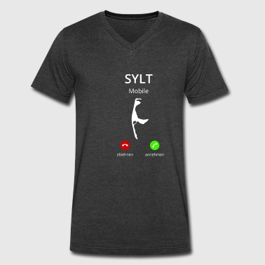 Sylt Sylt is calling - Men's V-Neck T-Shirt by Canvas