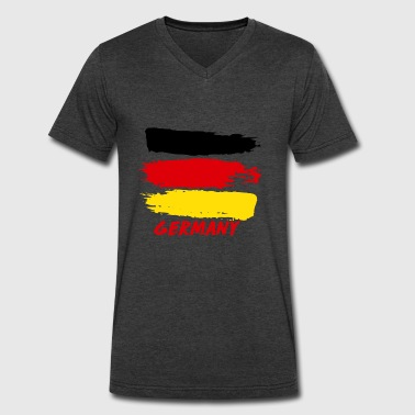 Flag Of Germany German flag designs - Men's V-Neck T-Shirt by Canvas