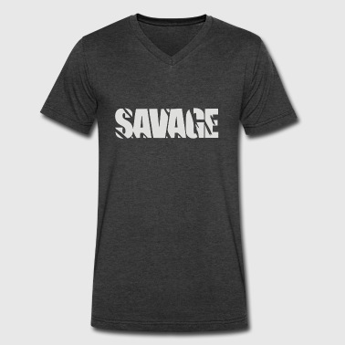 Savage Music Savage - Men's V-Neck T-Shirt by Canvas