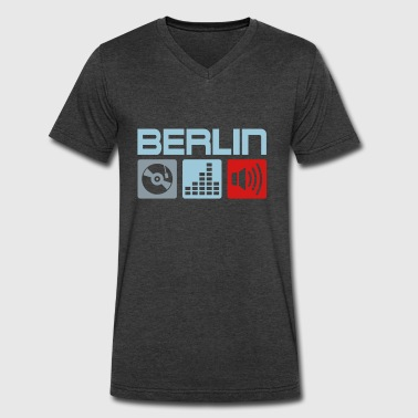 Berlin Underground Berlin Music DJ - Men's V-Neck T-Shirt by Canvas