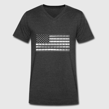 American Flag - Men's V-Neck T-Shirt by Canvas