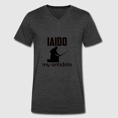 Iaido design - Men's V-Neck T-Shirt by Canvas