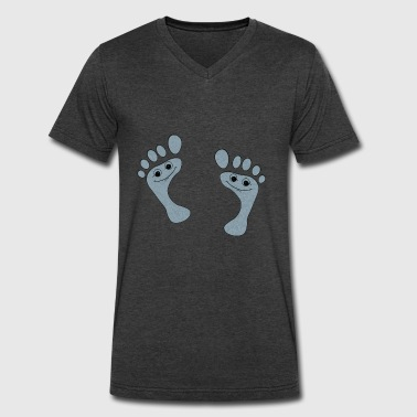 Footprints - Men's V-Neck T-Shirt by Canvas