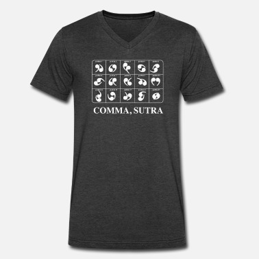 Sutra Comma Sutra - Men's V-Neck T-Shirt by Canvas