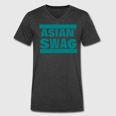 Gay Asian ASIAN SWAG - Men's V-Neck T-Shirt by Canvas