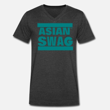 Asian Swag ASIAN SWAG - Men's V-Neck T-Shirt by Canvas
