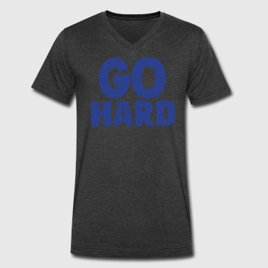 GO HARD - Men's V-Neck T-Shirt by Canvas