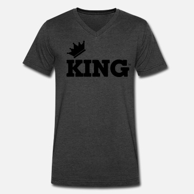 Rapper KING - Men's V-Neck T-Shirt by Canvas