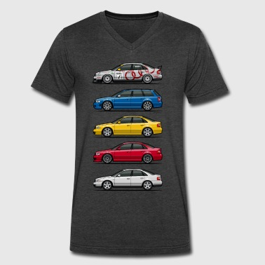 Stack of Audi A4 B5 - Men's V-Neck T-Shirt by Canvas