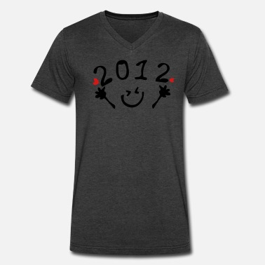 Fingers Vector Art 2012_smile_hearts - Men's V-Neck T-Shirt by Canvas