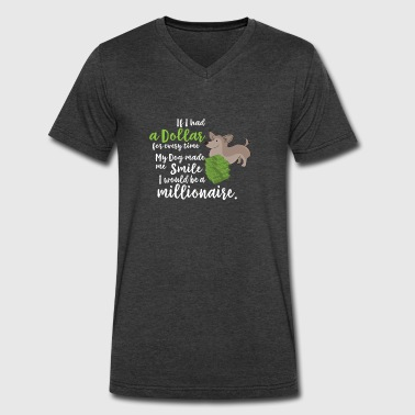 Dog Quotes Funny dog quote dogs gift - Men's V-Neck T-Shirt by Canvas
