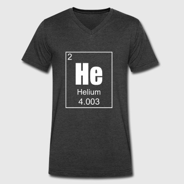 Helium Helium - Men's V-Neck T-Shirt by Canvas