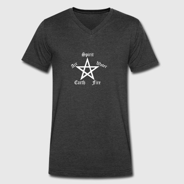 Elements Pentagram Womens Funny Pagan witchcraft l - Men's V-Neck T-Shirt by Canvas