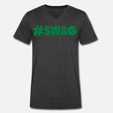 99 Swag #SWAG - Men's V-Neck T-Shirt by Canvas