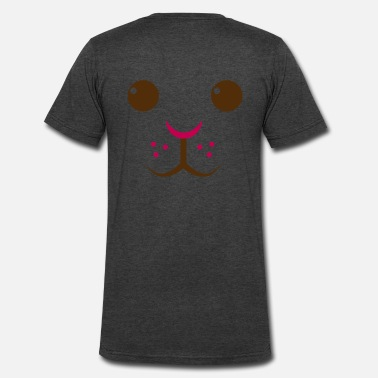 Easter Bunny Rabbit Face Easter Bunny Rabbit face  - Men's V-Neck T-Shirt by Canvas