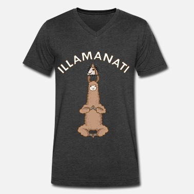 Illuminati Satire Illamanati - Men's V-Neck T-Shirt by Canvas
