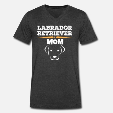 Labrador Retriever Clothes Labrador Retriever Mom - Men's V-Neck T-Shirt by Canvas
