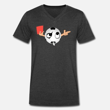 Red Card Soccer Soccer red card - Men's V-Neck T-Shirt by Canvas