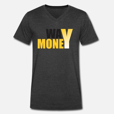 Money Way Way Money 1 - Men's V-Neck T-Shirt by Canvas