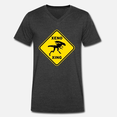 Xeno Xeno Xing - Men's V-Neck T-Shirt by Canvas