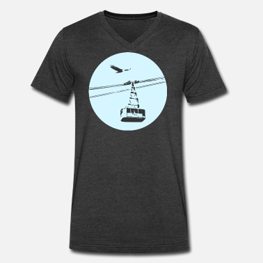Cable Car Gondola / cable car with eagle blue - Men's V-Neck T-Shirt