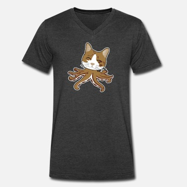 Octopus Cat Octopus Cat - Men's V-Neck T-Shirt by Canvas