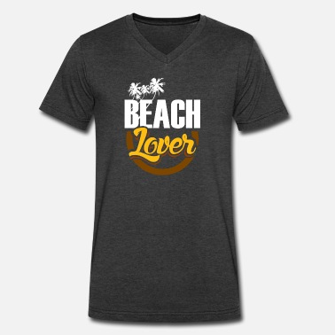 Sun Bathing Beach Lover swimming sun bathe gift - Men's V-Neck T-Shirt by Canvas