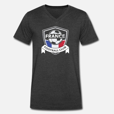 True Design France Football Club - Men's V-Neck T-Shirt by Canvas