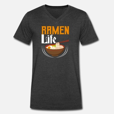 Ramen Noodle Soup Ramen Life - Tasty Noodle Soup - Men's V-Neck T-Shirt by Canvas