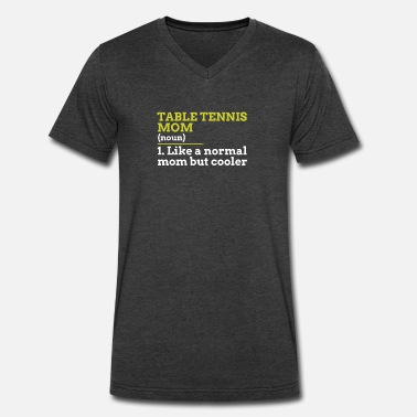 Table Tennis Mom Table Tennis Mom - Men's V-Neck T-Shirt by Canvas