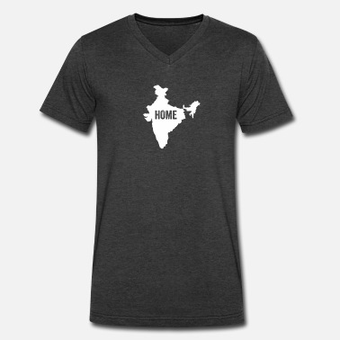 Ahmedabad India Home - Men's V-Neck T-Shirt by Canvas