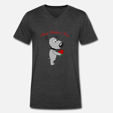 Dog Days Are Over valentine's day gift dogs rose dog love heart cute - Men's V-Neck T-Shirt by Canvas