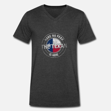 Texans Vintage Have No Fear The Texan Is Here - Men's V-Neck T-Shirt by Canvas