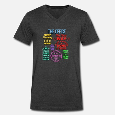 Office Life Office Sayings Office Humor Office Life Gift Work - Men's V-Neck T-Shirt by Canvas