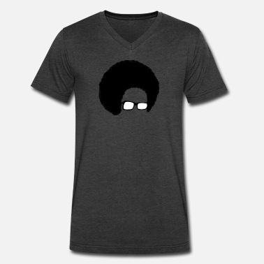 Afro Silhouette Afro Nerd I - Men's V-Neck T-Shirt by Canvas